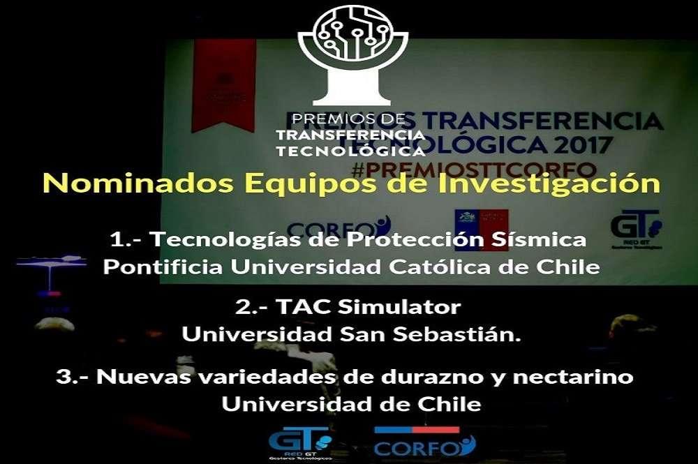 Equipos de investigación nominados al Premio Nacional de Transferencia Tecnológica 2018