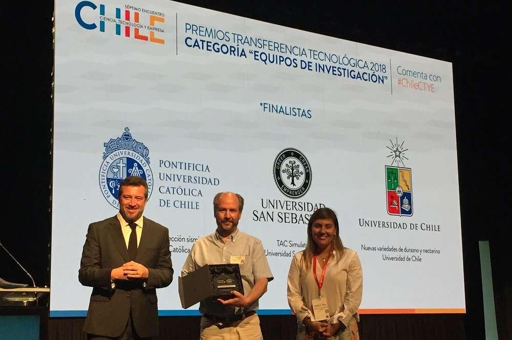 Segundo lugar en la categoría Equipos de Investigación de los Premios de Transferencia Tecnológica 2018